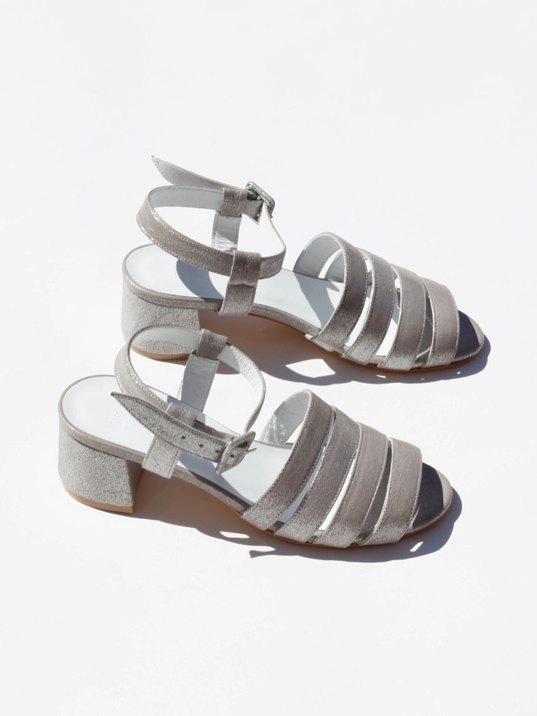 Highest cost option: MARYAM NASSIR ZADEH PALMA SANDAL in AMETHYST METALLIC (via Mille)