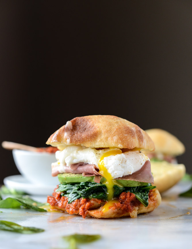 This breakfast sandwich from  Jessica Merchant's blog  makes me want to cry. (image via  howsweeteats.com )