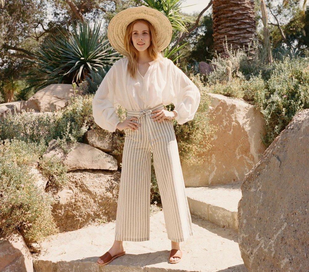 Doen Riviera High Waisted Tie Pant. Inspo:  bleubird .(via  shopdoen.com )