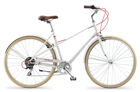 I really like the look of PUBLIC bikes. This is the M7 Mixte. (image via  publicbikes.com )