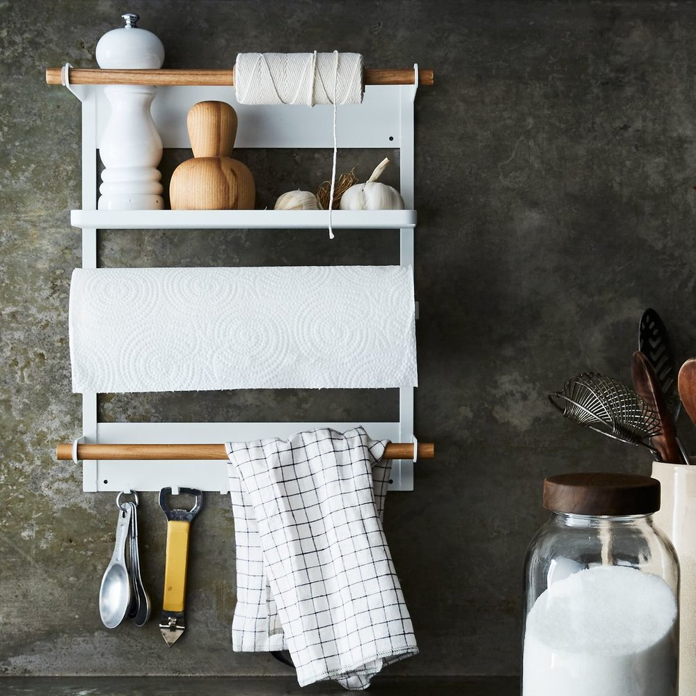 Steel & Wood Magnetic Refrigerator Rack (via  Food52 )