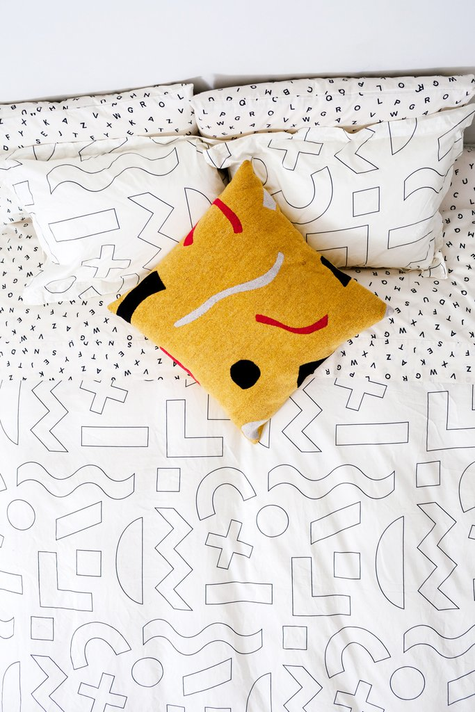 They mix and match so well. (Objects Duvet Set via  dusendusen.com )