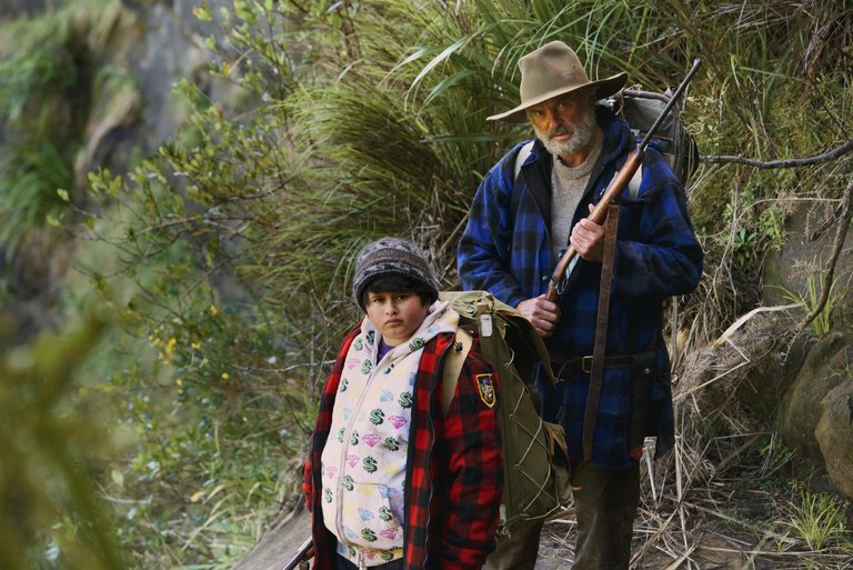 Julian Dennison, left, and Sam Neill killing it. (via The Orchard)