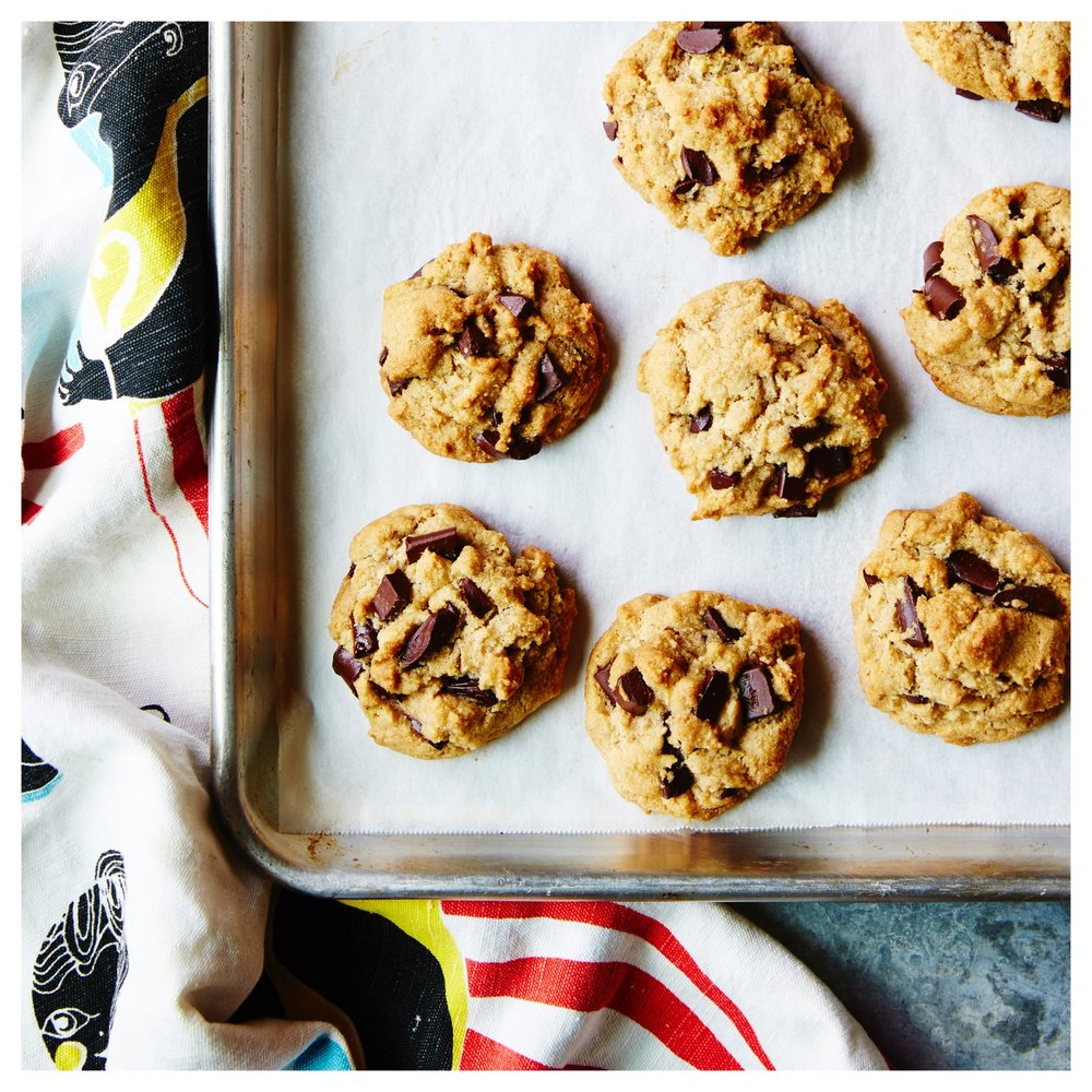 Chocolate Chunk Cookies (via the  One Part Plant cookbook )