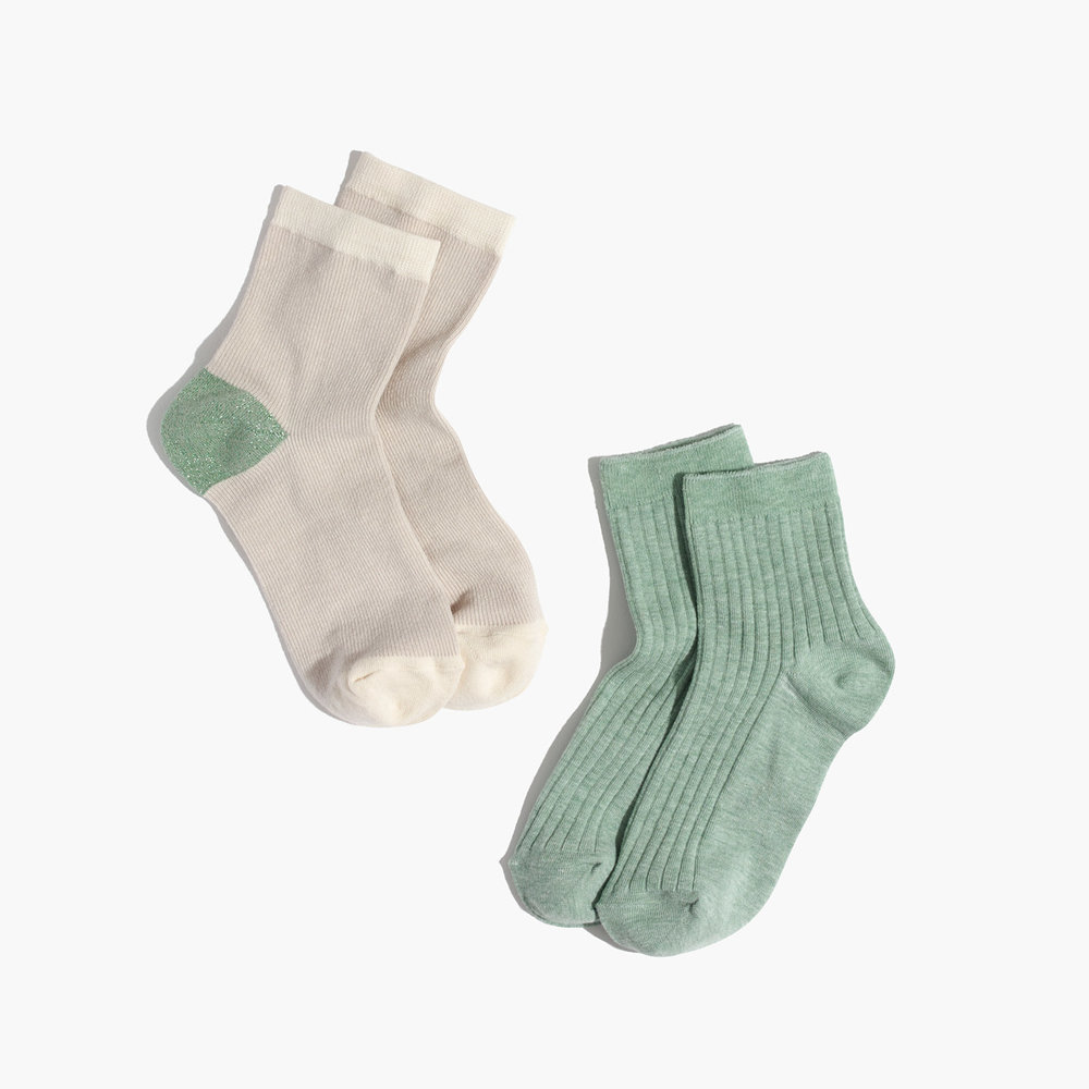 shimmer colorblock ankle socks (via  madewell )