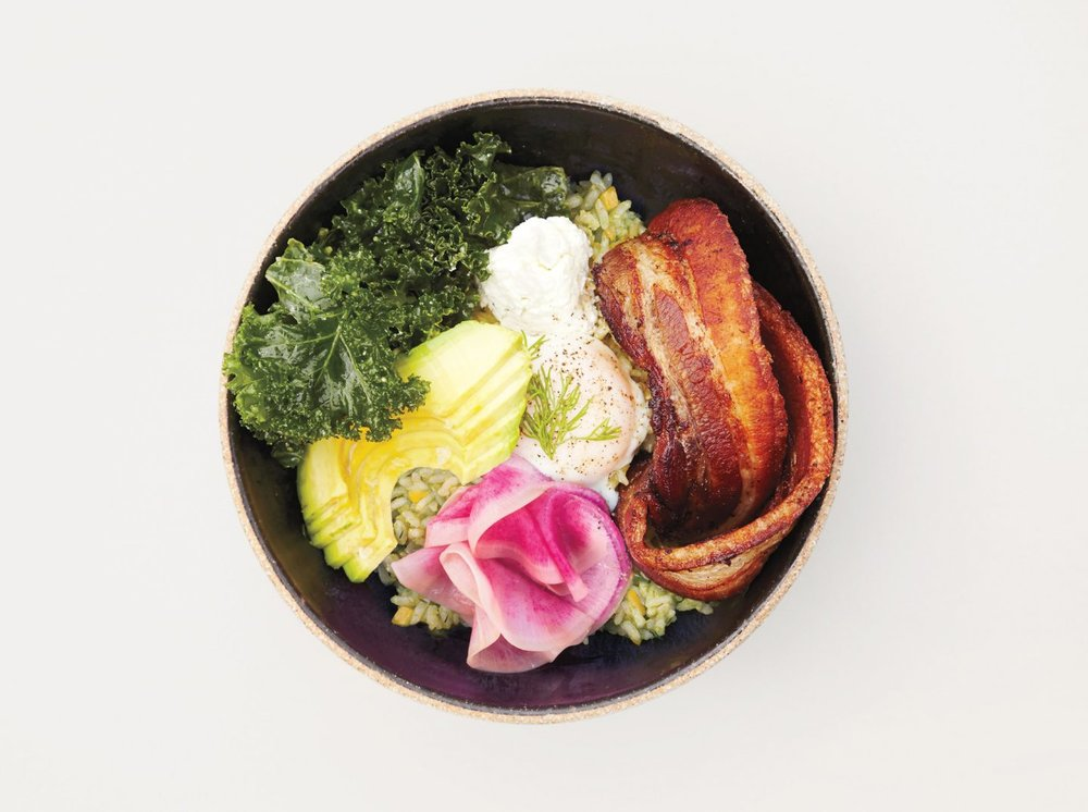Sorrel Pesto Rice Bowl: The definitive grain bowl at Sqirl. (via luckypeach)