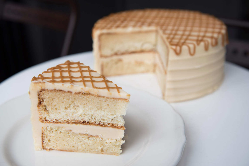 Vanilla salted-caramel cake at Ovenly. Photo: Liz Clayman (via nymag)