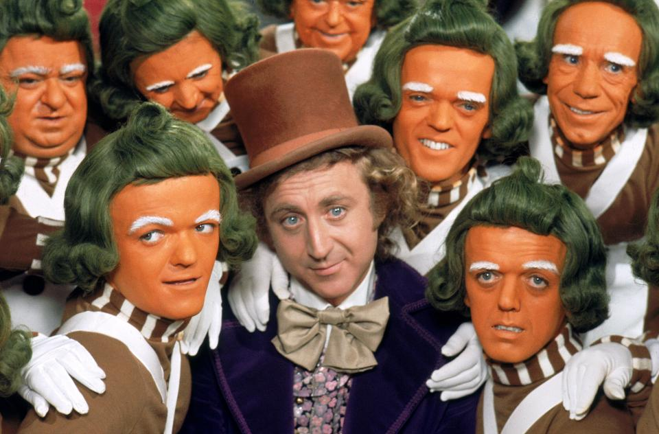 This is the first fantasy that came to mind---more so the chocolate factory than the Oompa Loompas. (image via alamay)