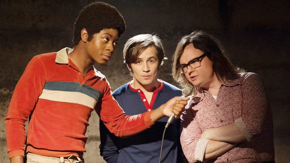 RJ Cyler as Adam, Michael Angarano as Eddie, and Clark Duke as Ron (photo by  Lacey Terrell  via Showtime)