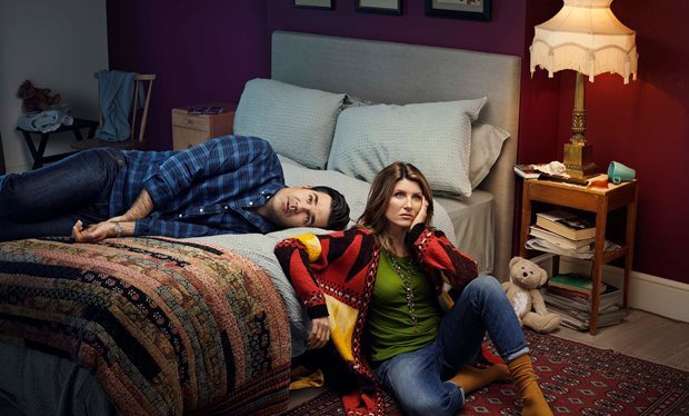 """Sharon Horgan and Rob Delaney are as sharp and scabrous as ever."" (image via radiotimes)"