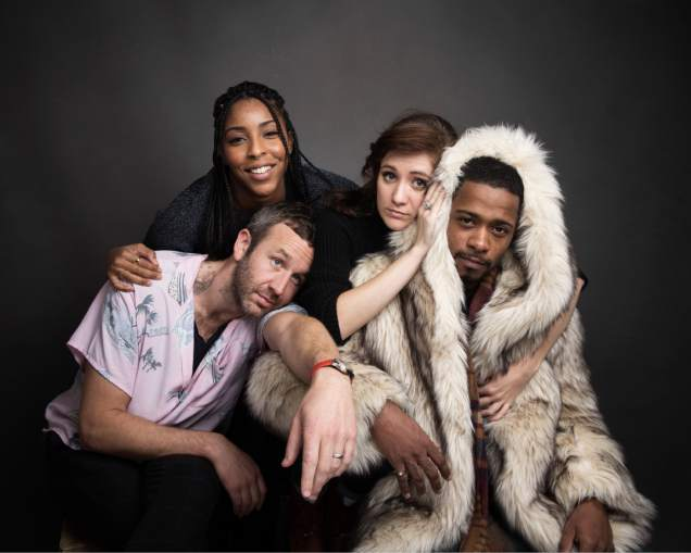 What a cast! Chris O'Dowd, Jessica Williams (it's her birthday today!), Noel Wells and Lakeith Stanfield. (Image via Taylor Jewell/Invision/AP)