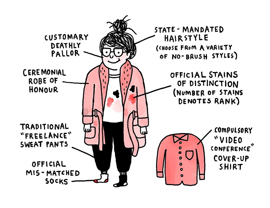 The Freelancer's Uniform by Gemma Correll. (via medium)