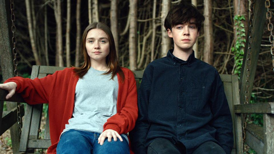 Alyssa (Jessica Barden) and James (Alex Lawther). I did still cry, but it was worth it. (image via Netflix)