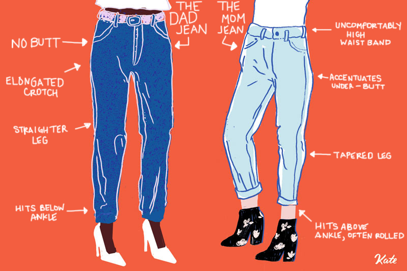 I got neither parental style of pant. (I llustration by Kate Worum  image via manrepeller)