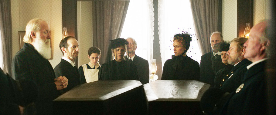 "A scene from ""Lizzie."" A lot of great actors in this one like Denis O'Hare and Jeff Perry."