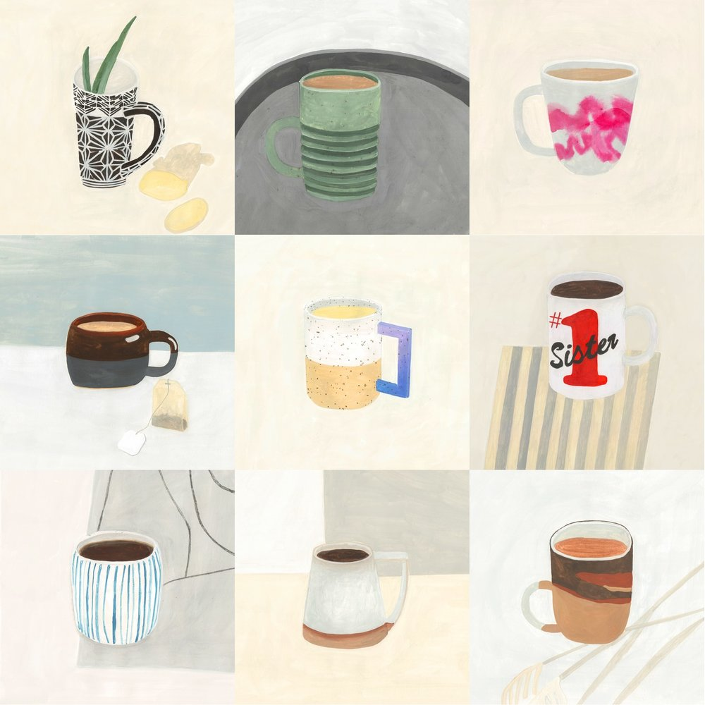 What's your favorite mug? (illustrations by Maria Sainte via bonappetit)