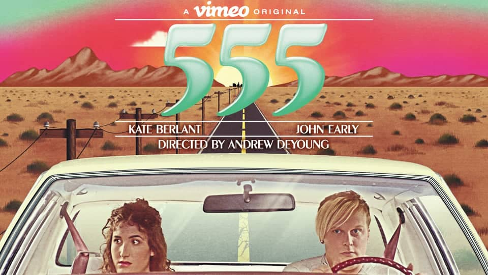 Poster and logo for  555  produced by  Abso Lutely.