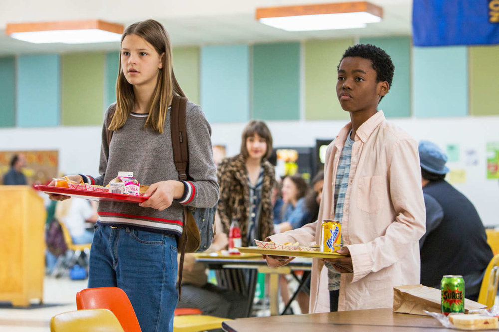 Peyton Kennedy and Jahi Di'Allo Winston. (photo via Scott Patrick Green/Netflix)