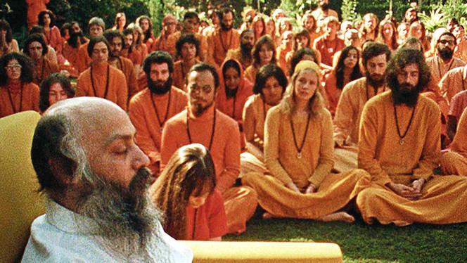 Bhagwan Shree Rajneesh a.k.a. Osho. (image via netflix)