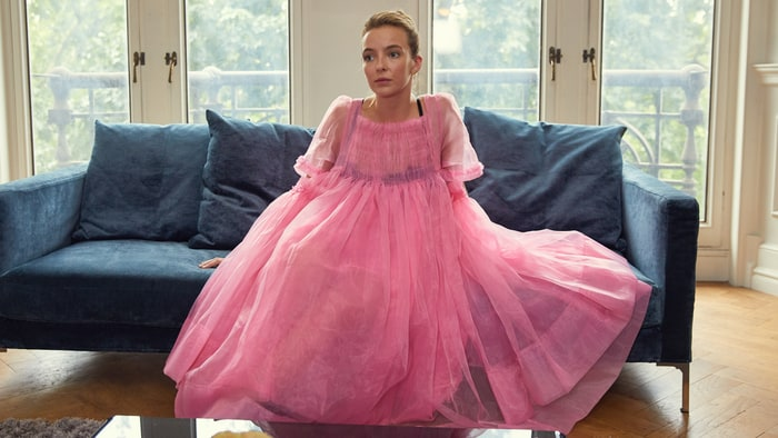 I don't know much about Jodie Comer, here in  Killing Eve , but she's great. (image via rollingstone)