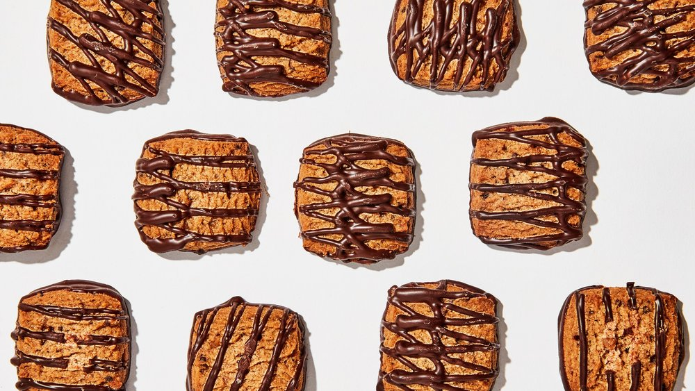 I love a food pattern. Coffee Toffee Shortbread Cookies (photo via bonappetit)