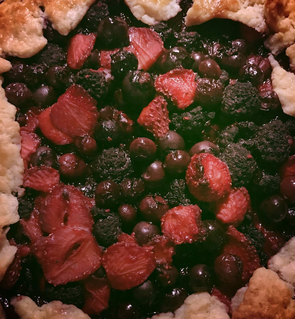 Plus a mom-made berry galette.