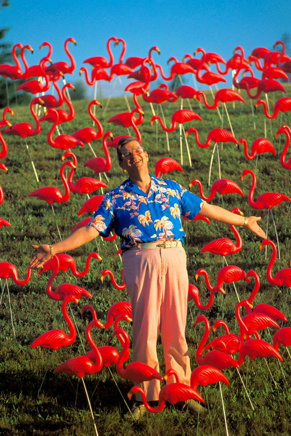 I just love Don Featherstone, creator of the pink lawn flamingo. (Image via Seth Resnick/Science Faction, via Corbis)