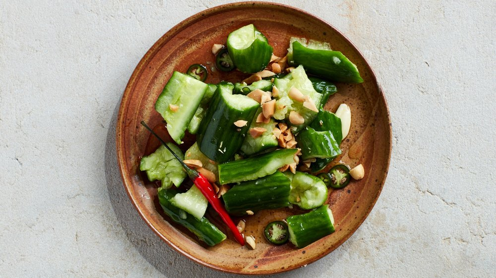 I want to make this  Smashed Cucumber Salad with Hot Vinegar.  (via bonappetit)