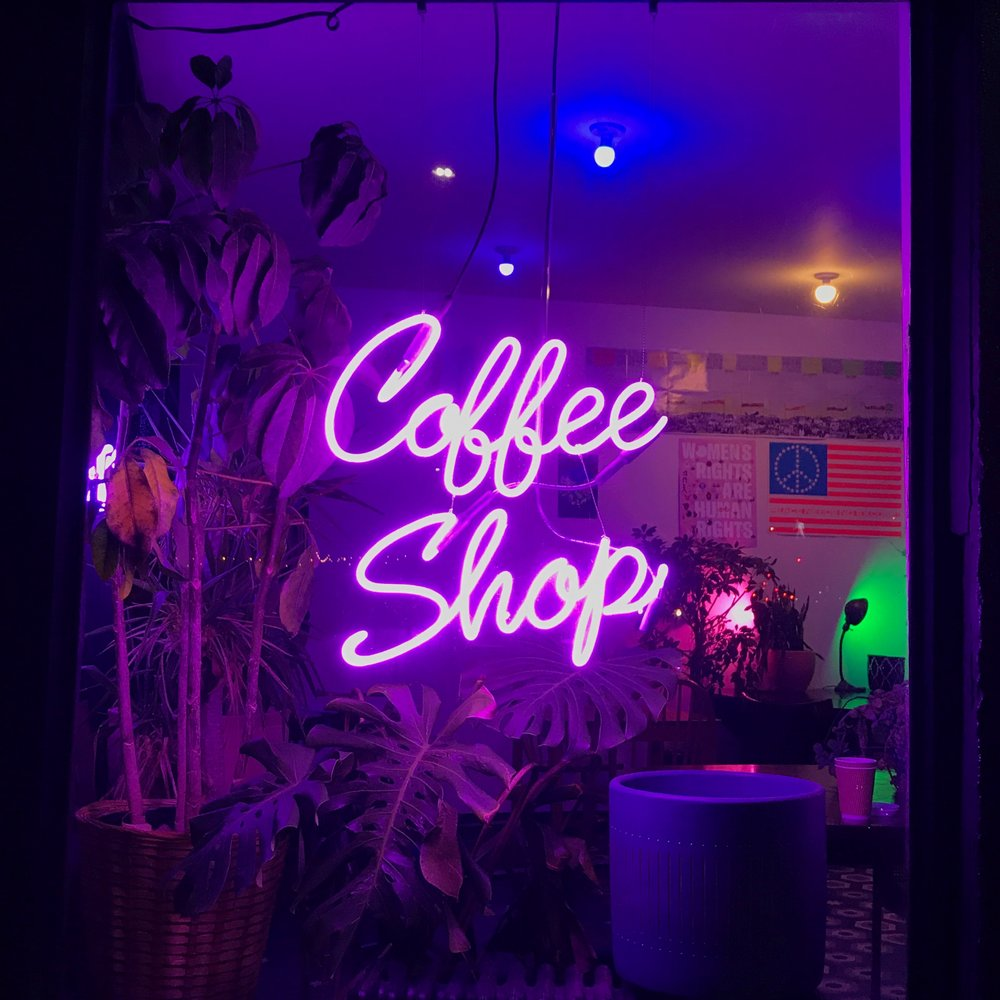 Bake Shop has good neon signs and flooring.
