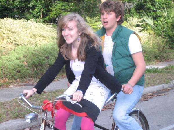 I read a lot about this period of life—my sweet sixteen with Blake and a tandem bike.