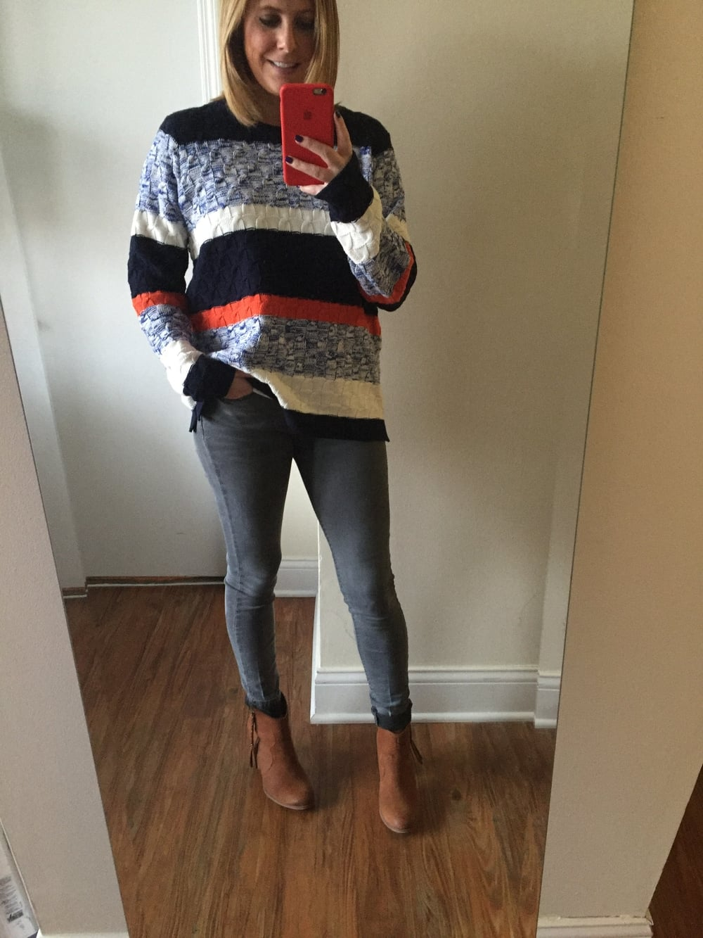 Sweater: Old Navy, Jeans: Forever 21, Booties: Aldo