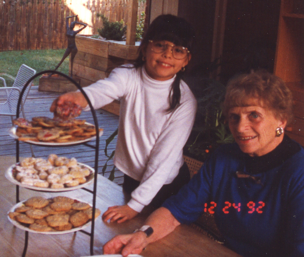 094 Xmas 1992 - cookies and Grandma Scott.jpg
