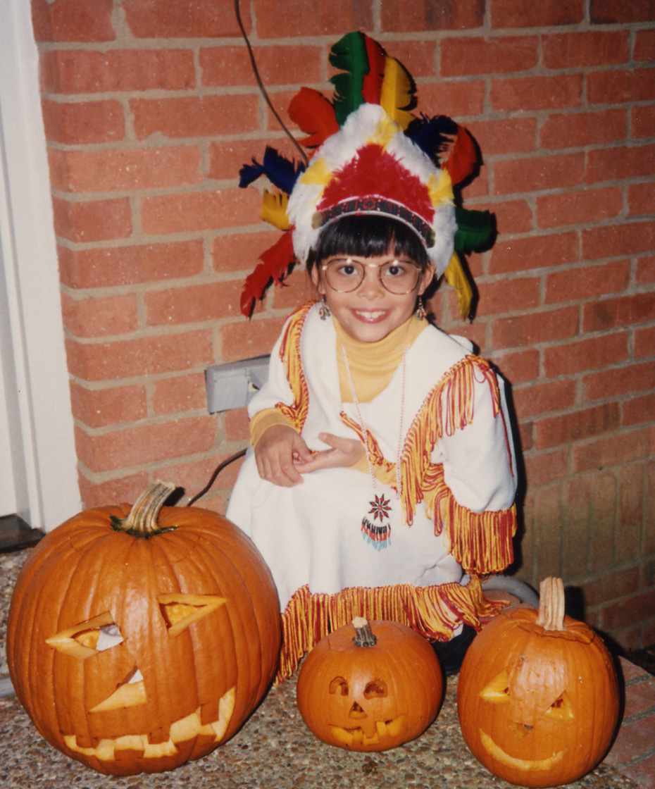 114 w pumpkins and Indian princess costume.jpg
