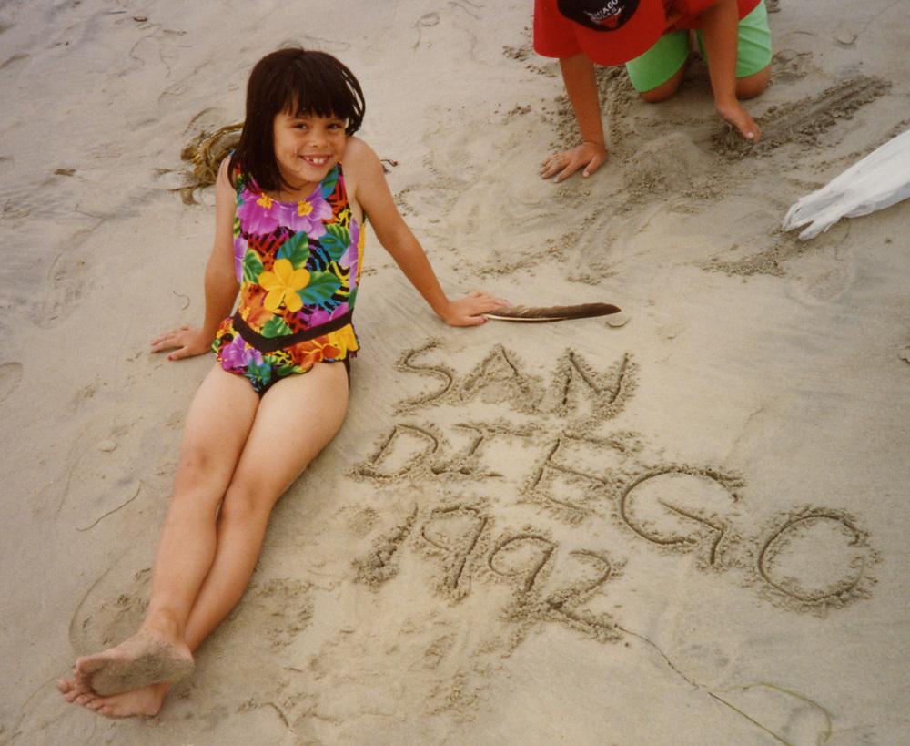 560 on beach in San Diego 1992.jpg