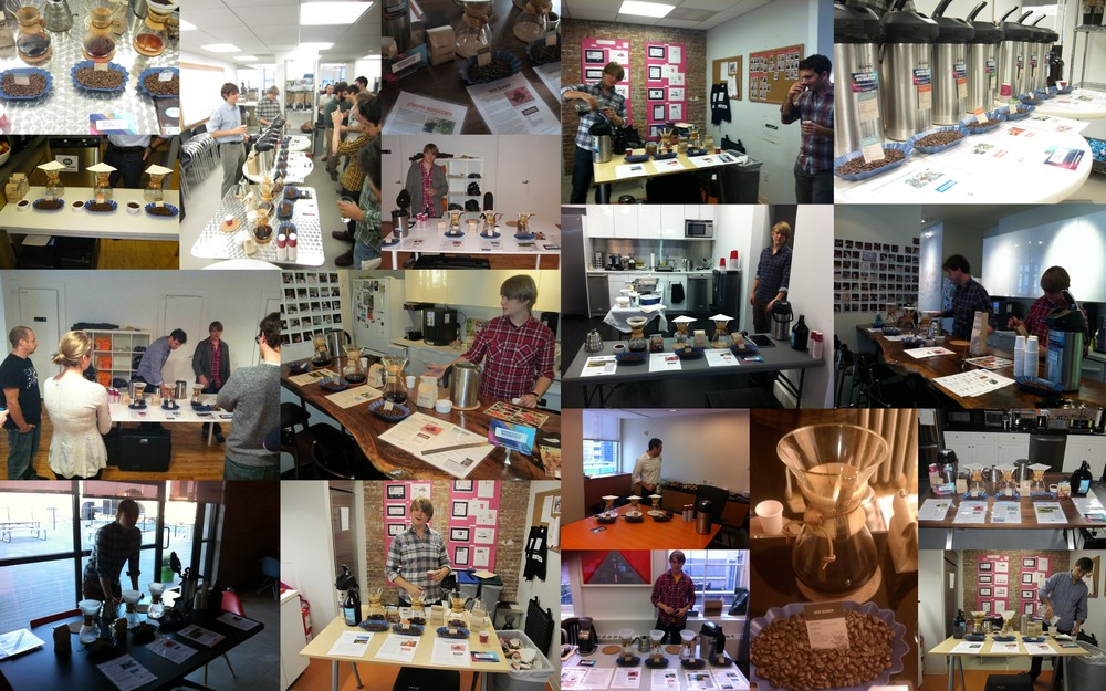 Joyride Office Coffee Tasting Collage