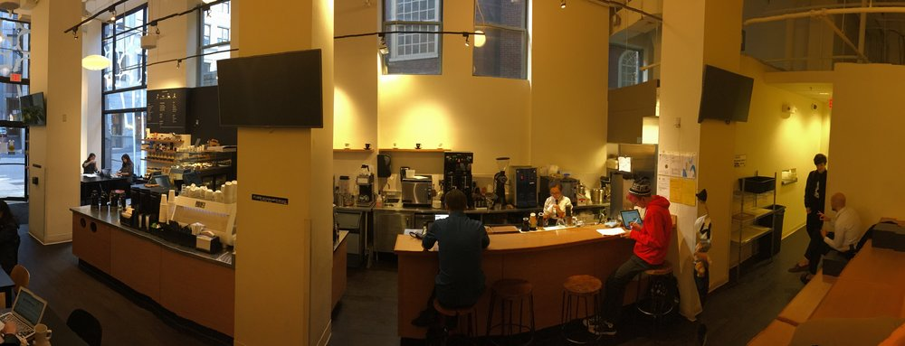 The view inside Ogawa Coffee Boston