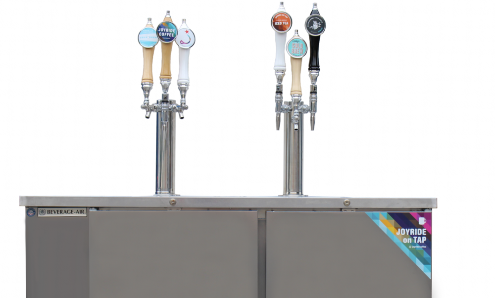 A Joyride Craft-on-Draft setup, featuring several products now available in the San Diego Area!
