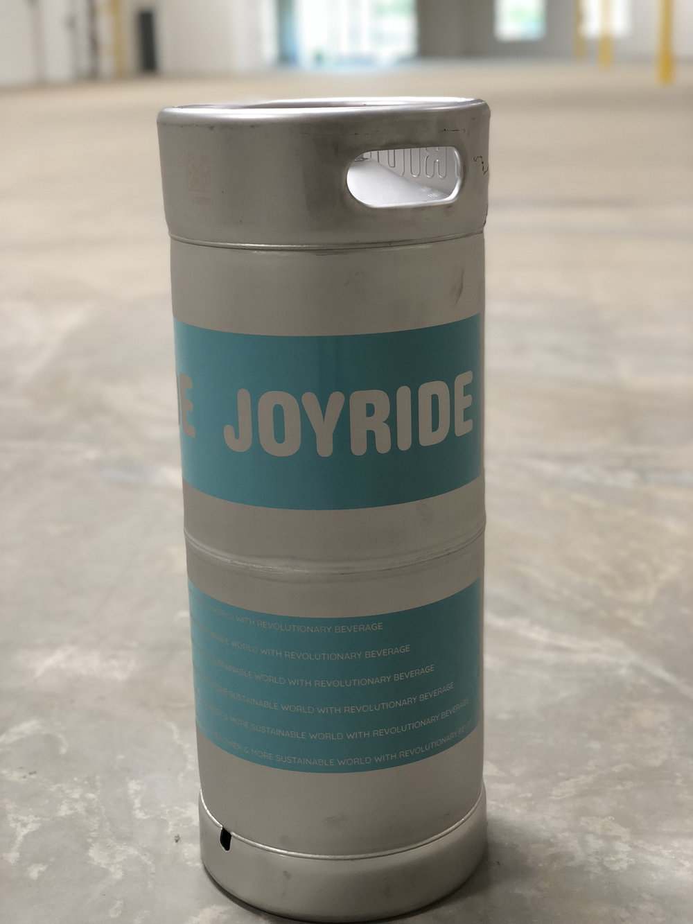 One of Joyrides re-usable kegs