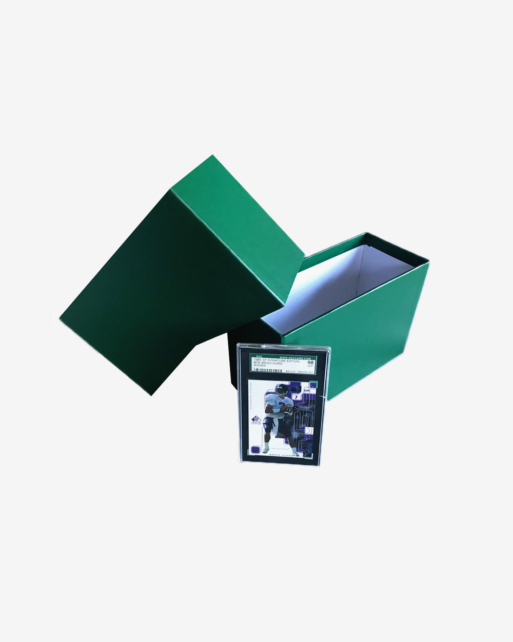 The Graded Card Storage Box - Now Available in Green