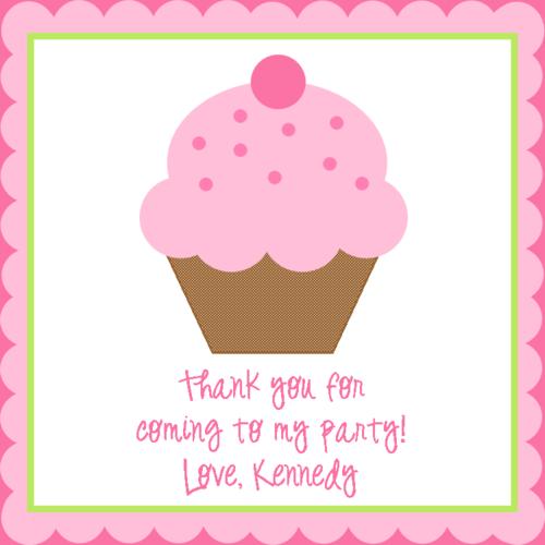 pink cupcake gift tagcalling card