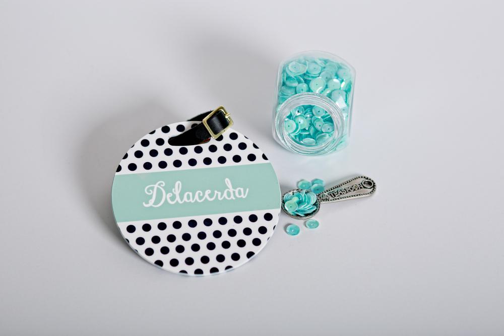 PaperDoll Designs luggage tag