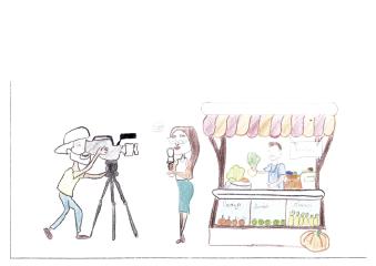 Sou criança e me inspiro muito em ser jornalista, quando eu crescer quero ser uma grande jornalista. Para exercer essa profissão é necessário se alimentar com frutas ricas em Vitamina C, como: laranja, limão, acerola, abacaxi, entre outras, pois o profissional desta área fica exposto à diferentes tipos de clima.  EBM Profª Hella Altemburg Andrielly U. Camargo 6° ano - 11 anos