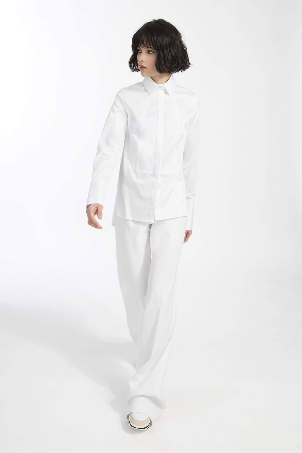 Deena shirt - White popeline cotton shirt