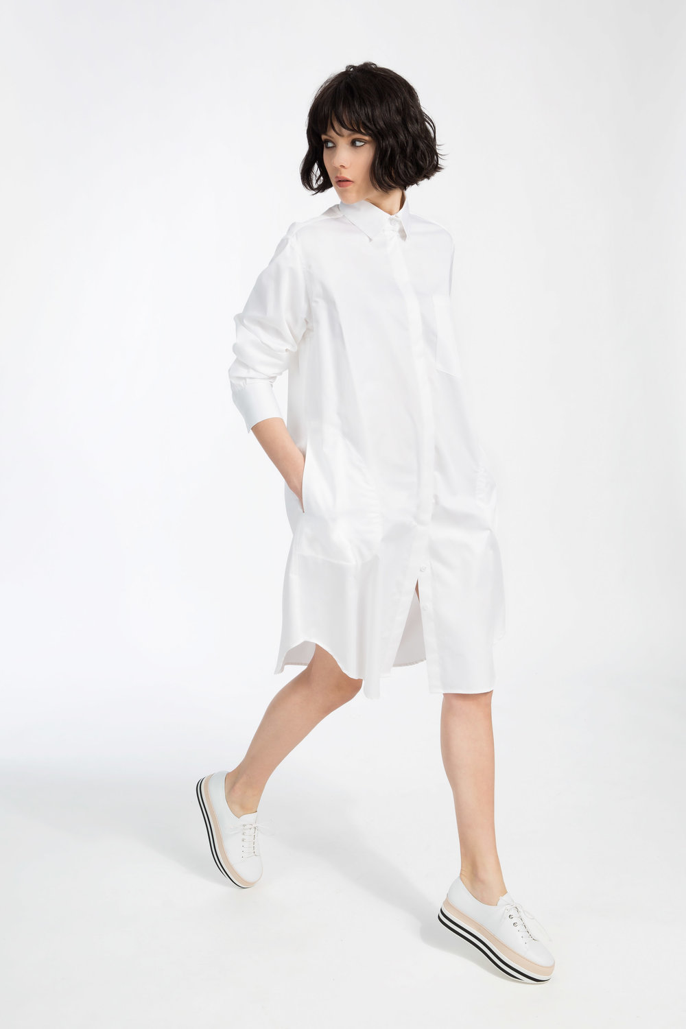 Kendal - ....A long, streamlined tunic dress shirt..Robe chemisier style tunique longue et ample....