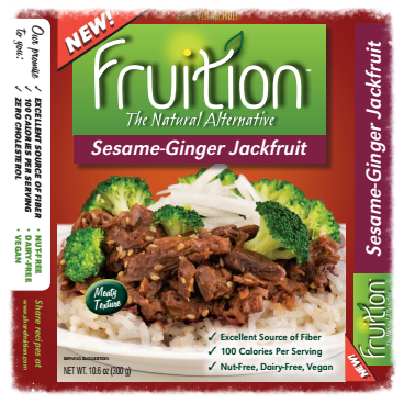 Recipe developed for sesame-ginger jackfruit (old packaging)