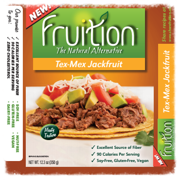 Recipe developed for Tex-Mex jackfruit (old packaging)