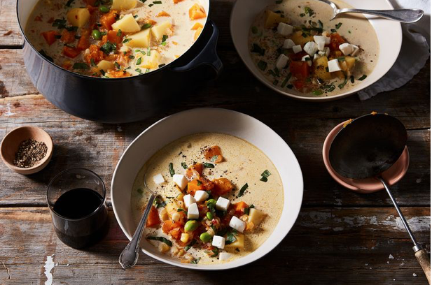 One-Pot Butternut Squash Stew with Fresh Mozzarella