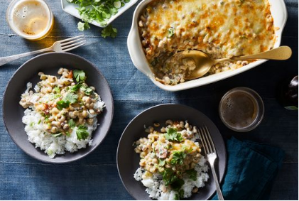 Cheesy, Creamy Black-Eyed Peas
