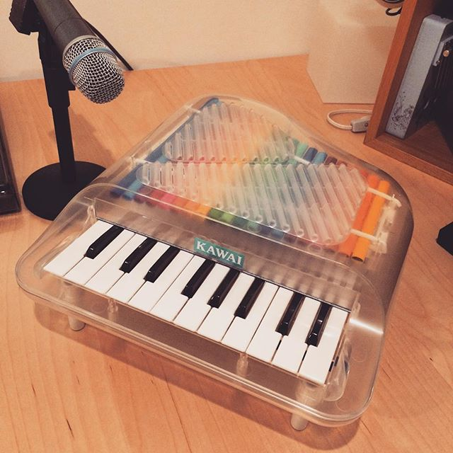 Shit just got real. #plastic #piano #studio