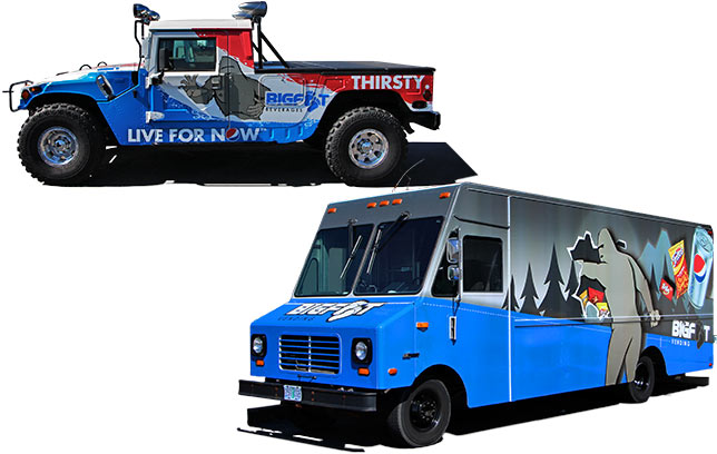 Bigfoot / Pepsi - Truck and vehicle art brings the brand to the streets.
